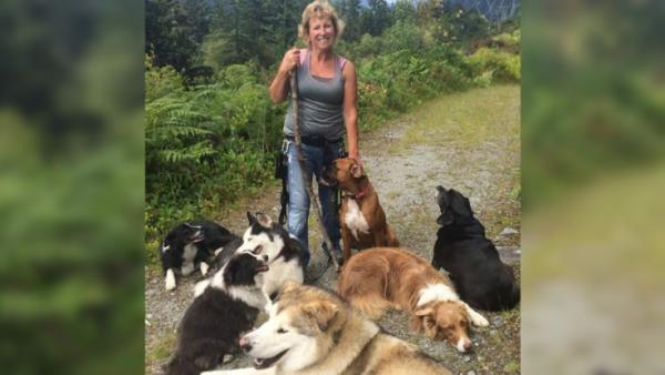 Annette Poitras and Dogs