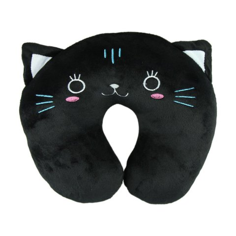 Black Cat Neck Pillow