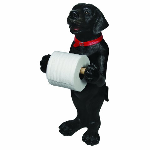 Cute Black Labrador Toilet Paper Holder Petslady Com
