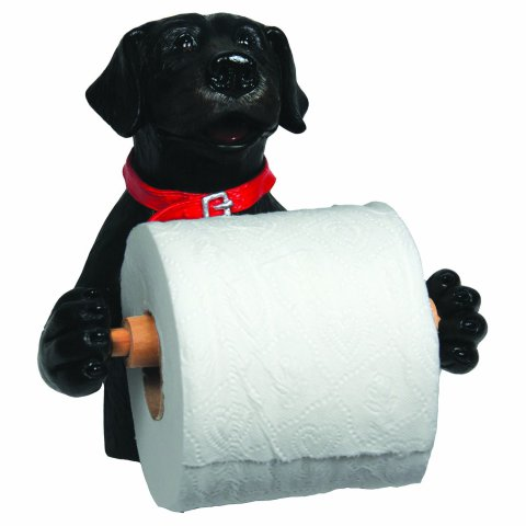 Wall-Mounted Black Lab Toilet Paper Holder