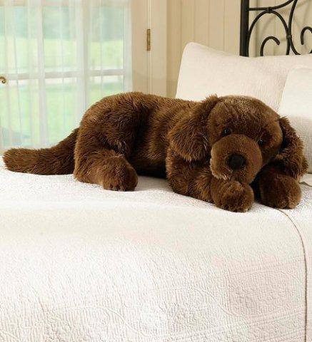 Chocolate Labrador Retriever Body Pillow