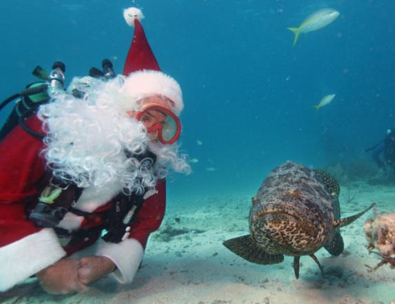 Scuba Santa in Florida (You Tube Image)