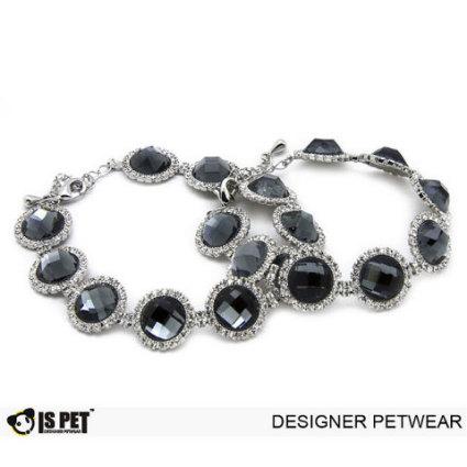 Black Crystal Dog Necklace