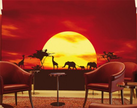 Photorealistic Wallpaper of the African Savannah