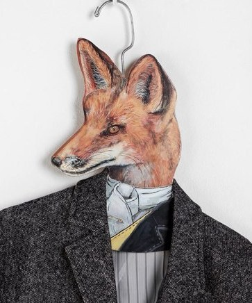 Let this wily fox keep an eye on your best suit!
