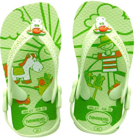 Green Baby Pet Flip Flops