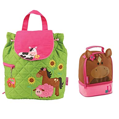 Farm Animals Backpack and Horse Lunch Bag Combo