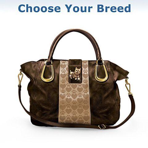 Puppy Love Satchel-Style Handbag