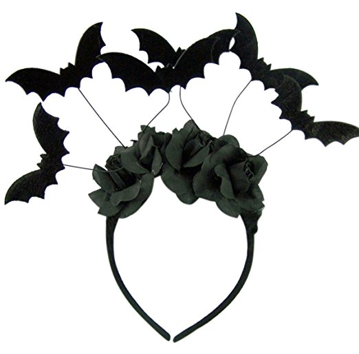 Halloween Black Bat Headband