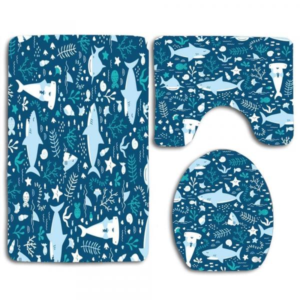 Shark 3 Piece Bathroom Set