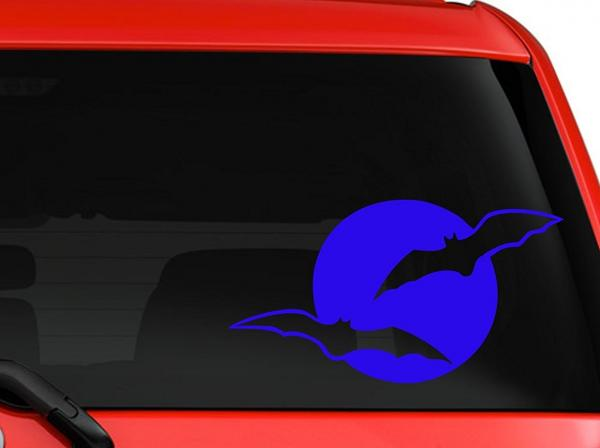 Bats and the Moon Decal