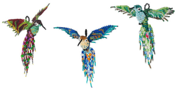 Beaded Hummingbird Ornaments