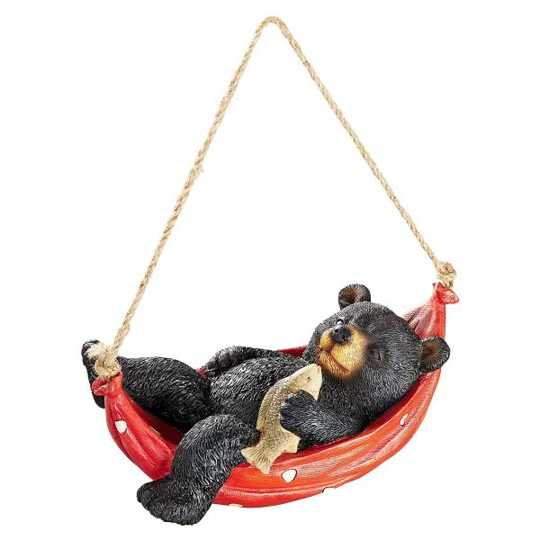 Summer Snooze Black Bear Sculpture