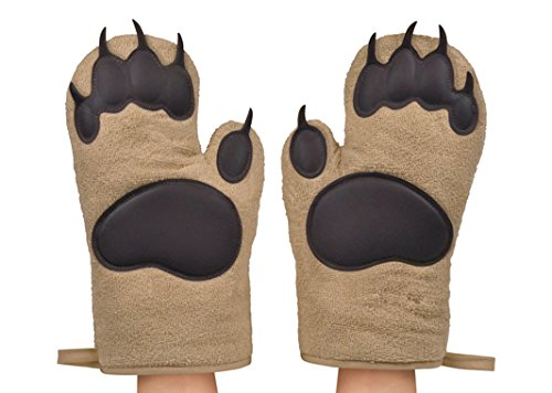 Bear Hands Oven Mitts by Fred and Friends