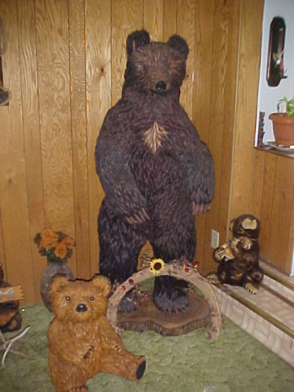 White Heart - 6 foot tall black bear