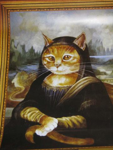 Mona Lisa Cat: Source: beccarama.com