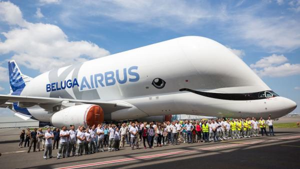 Airbus's New Beluga XL Jet Transport Smiles For The Cameras