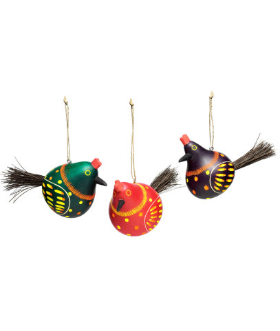 Chicken Gourd Ornament Set