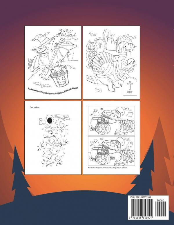 Dinosaur Halloween Activity Book