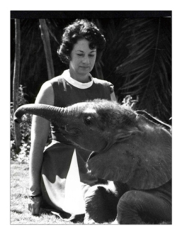 Daphne Sheldrick and Friend (Image via The David Sheldrick Wildlife Trust)