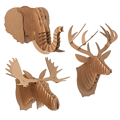 Choose from a buck, elephant or moose to decorate your digs.
