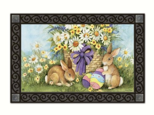 Easter Bunnies Doormat