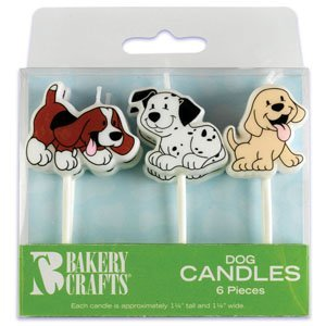 Puppy Cake Candles