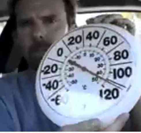 Ernie Ward, DVM, demonstates what it is like to be shut up in a hot car. (You Tube Image)