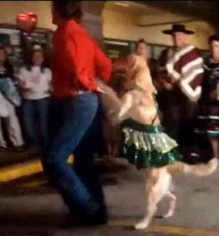 Carrie and Fuentes Dance the Merengue (You Tube Image)