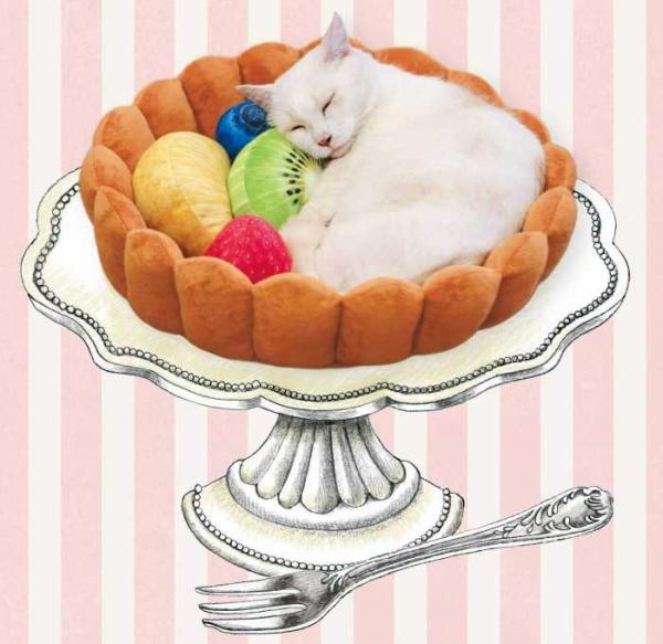 Cute Fruit Tart Cat Bed Ensures Sweet Dreams