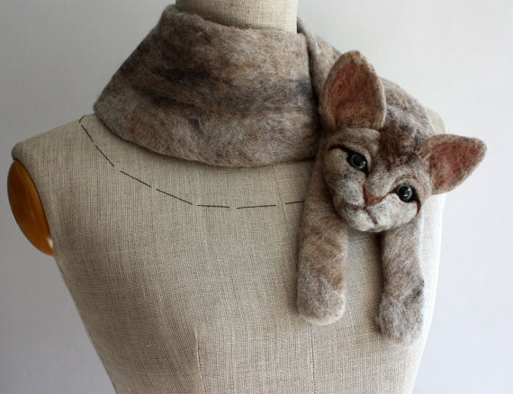 Are These Wool Cat Scarves A Little TOO Lifelike?
