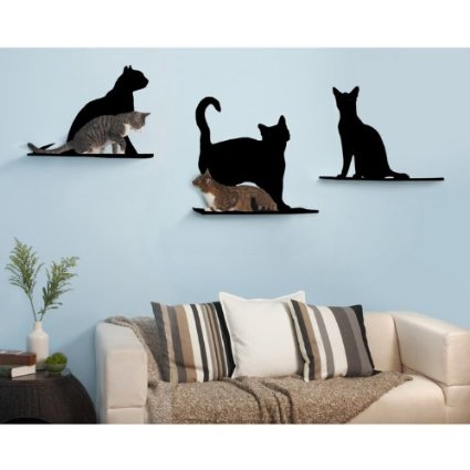 Trio Cat Shaped Shelves