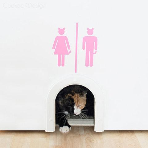 Cat door for wall