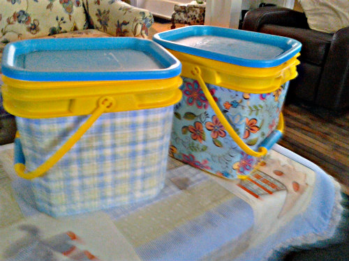 Kitty Litter Buckets Make Excellent Diaper Pails: Via Pinterest User Jear Kitchen