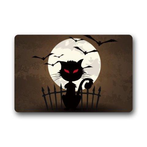 Black Cat Doormat #1