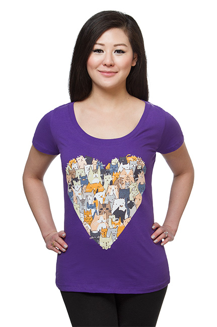 Cat Lovers Ladies' T-Shirt