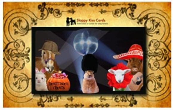 Sloppy Kiss eCard: Halloween Party Invitation (viariety pet version): © SloppyKissCards.com