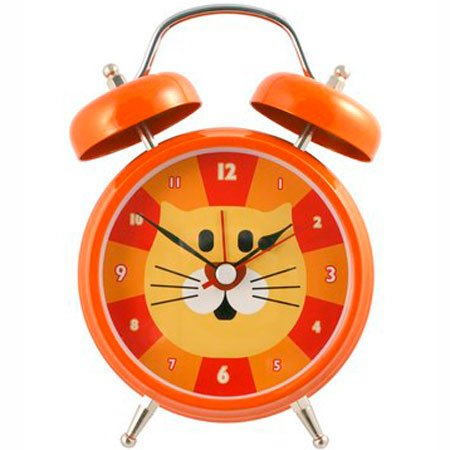 Orange Cat Meowing Sound Talking Alarm Clock