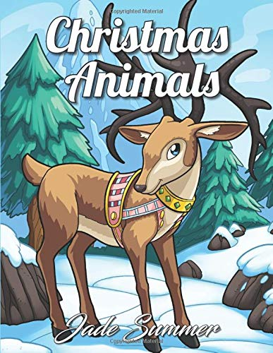 Christmas Animal Adult Coloring Book