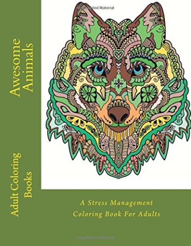 Awesome Animals Adult Coloring Book