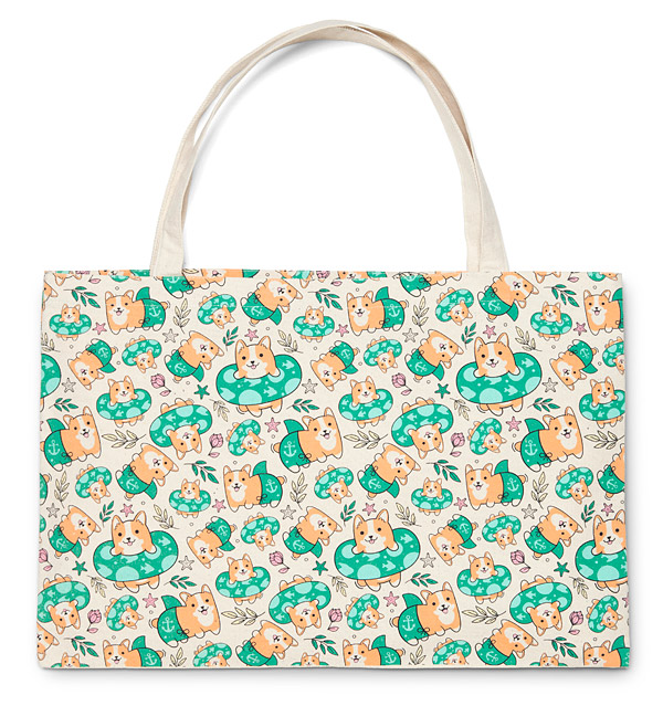 Corgi Beach Party Tote