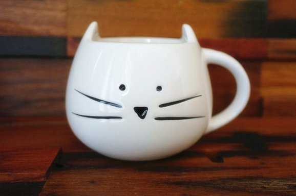 Cat Coffee Mug by Moyishi