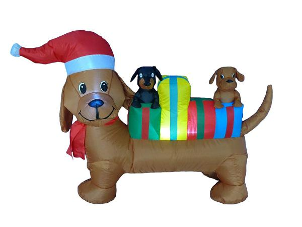 Three Dogs Christmas Inflatable Decoration