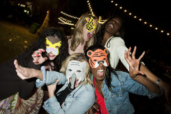 The London Zoo encourages 'fancy dress' at its silent discos: ©ZSL