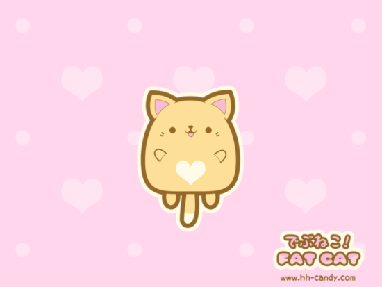 Debuneko Fat Cat by Hip Hop Candy: This fluffy guy looks very ready for some love. Fat cat art by HHCandy.