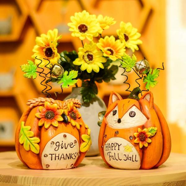 Solar Fox and Owl Thanksgiving Decorations