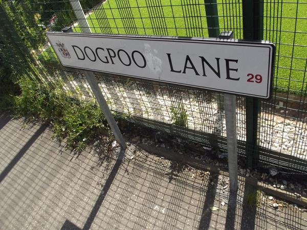 Real Places Named After Dogs - Dogpoo Lane, Birmingham