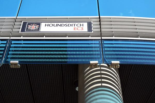 10 Real Places Named After Dogs - Houndsditch, Aldgate, London