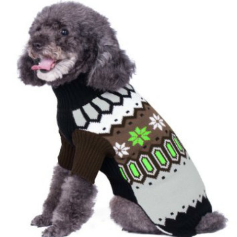Nordic Fair Isle Dog Sweater by Blueberry Pet on Amazon: Older dogs can benefit from sweaters