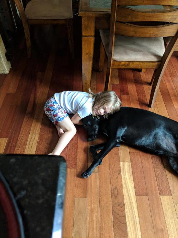 Granddaughter and Granddog